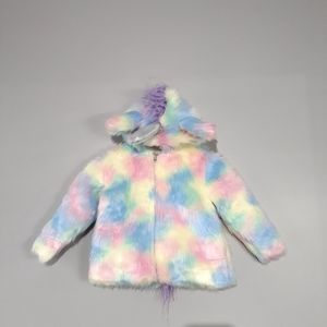 Siaomimi Play Unicorn Faux Fur Coat Rainbow Fairy